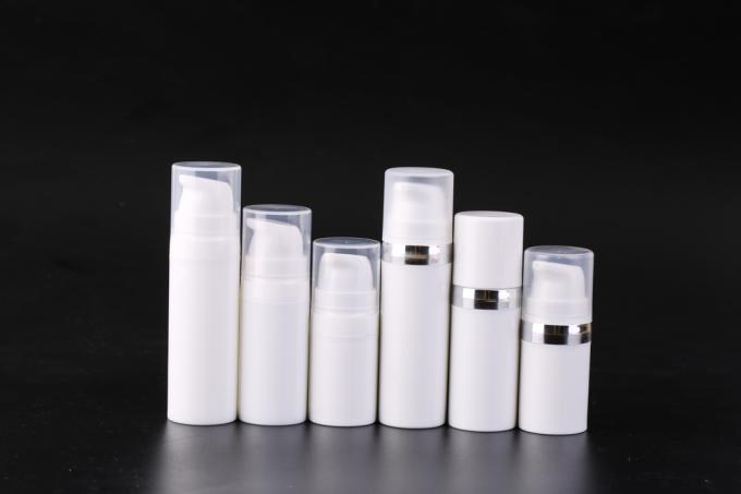 Plastic Airless Pump Bottles Cosmetic / Colorful Pump Dispenser Bottle