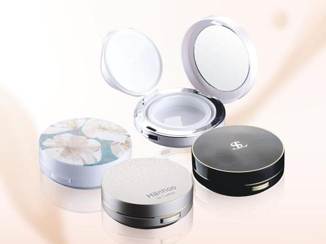 Double Deck Air Cushion Compact With Saponaceous Lid With Powder Compact Case