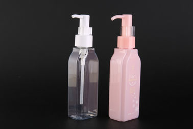China DHC Same Type Makeup Remover Bottle 120ML For Oil , PET Pump Bottle With Dispenser UKOB09 supplier