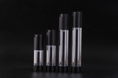 China UKMS08 15-20-30-35ml  Small empty High quality new design Airless AS Cosmetic bottle,black airless pump bottle factory